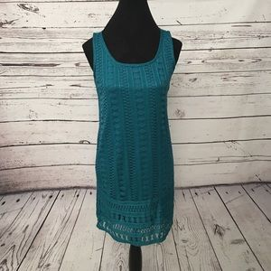 NWT teal green lace dress